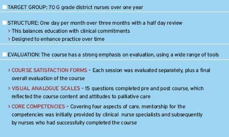 Palliative care education for community based nurses