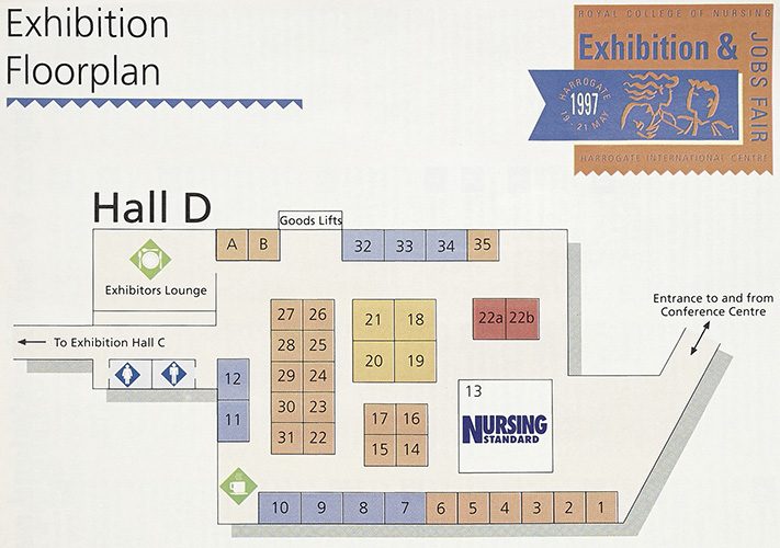 RCN Congress 97 exhibitors' Stand guide