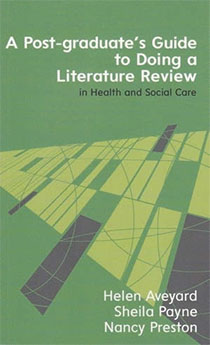 why do a literature review in health and social care